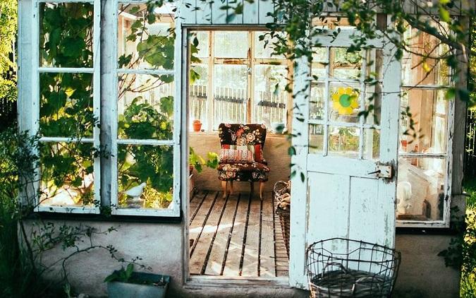 Stuhl, Ferienhaus, Country Stil, Innenarchitektur